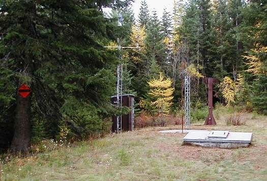 Photograph is of the Moscow Mountain  SNOTEL site.