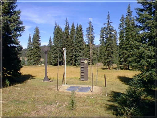 Photograph is of the North Fork Jocko  SNOTEL site.